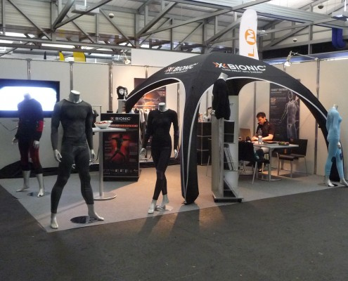 X-Gloo 4x4 tent at a trade show